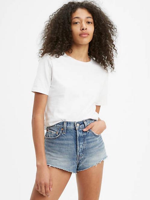 LEVI 501 High Rise Micro Denim Shorts