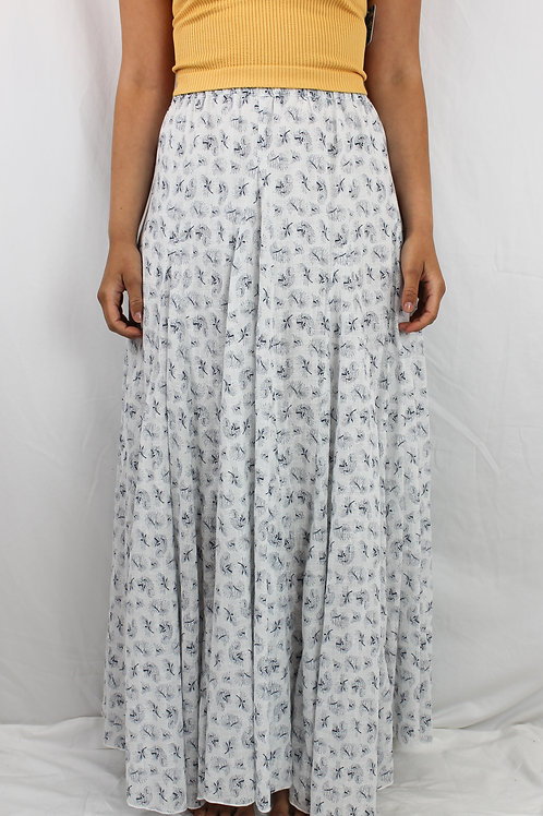 CP SHADES Feather Print Maxi Skirt