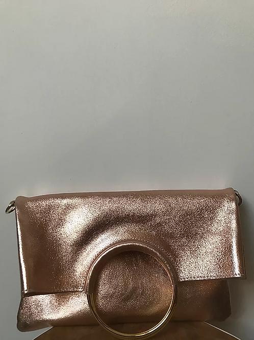 JIJOU CAPRI Leather Fold-over Clutch