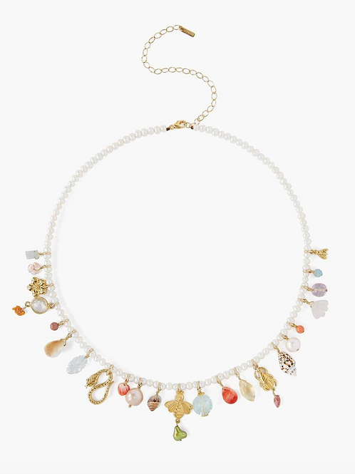 CHAN LUU White Pearl Maiden Necklace