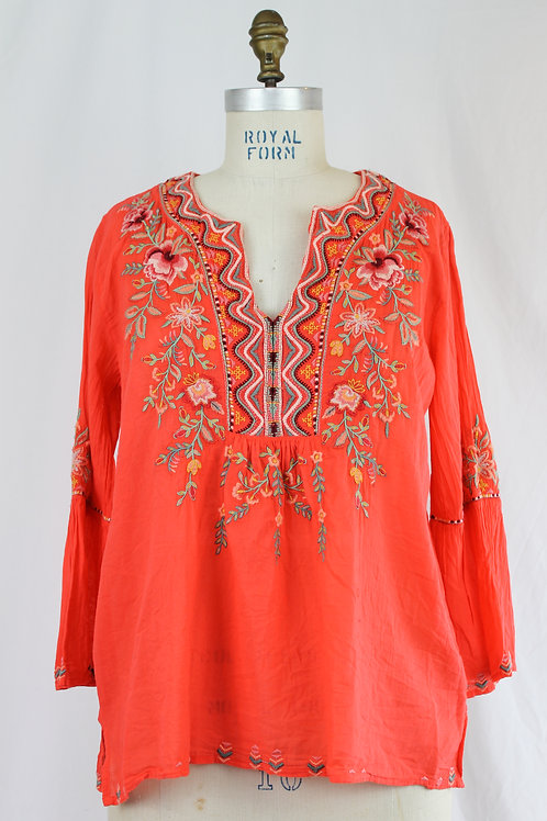 JOHNNY WAS Flare Slv Boho Blouse