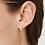 Thumbnail: CHAN LUU Petite Cream Pearl Holly Hoop Earrings