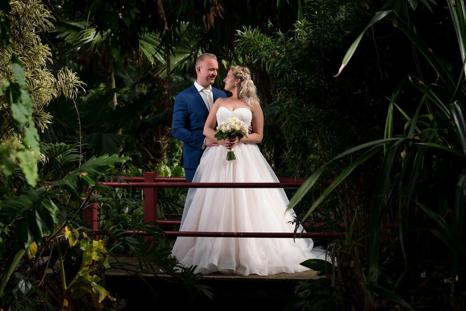 Bruidspaar Mariska en Michael