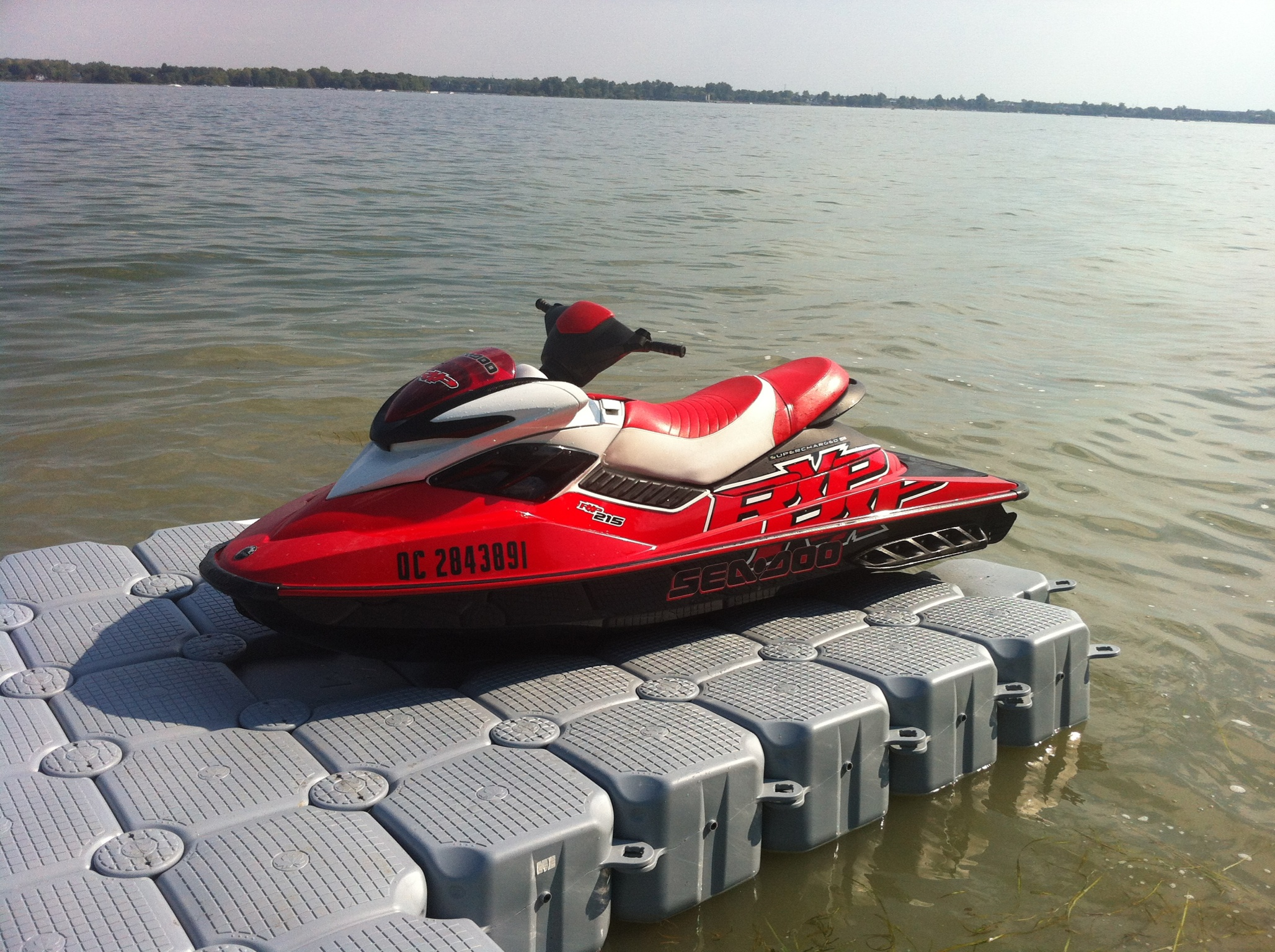 Drive-on system for Jetski