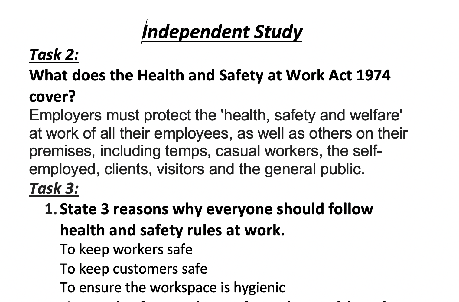28/04/20 - Health and Safety
