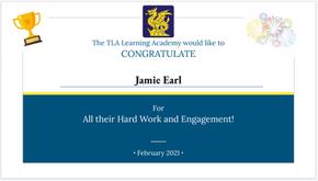 Jamie Earl Certificate