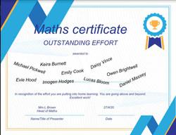 27/04/20 - Outstanding work in Mathsn