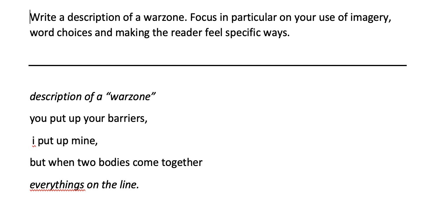 01/05/20 - Warzone