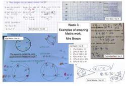 14/05/20 - Selection of Maths Work - Mrs Brown's Classes