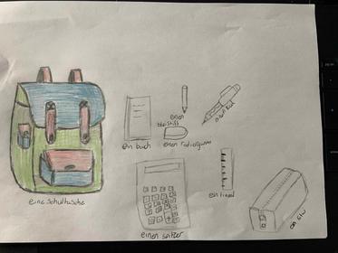 Teegan Monks - MFL - School bag items