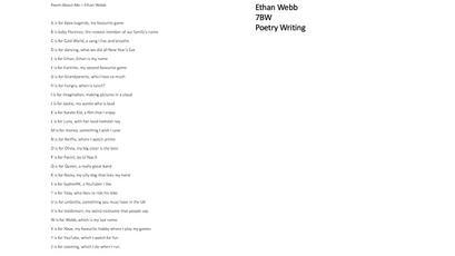 Ethan Webb - English