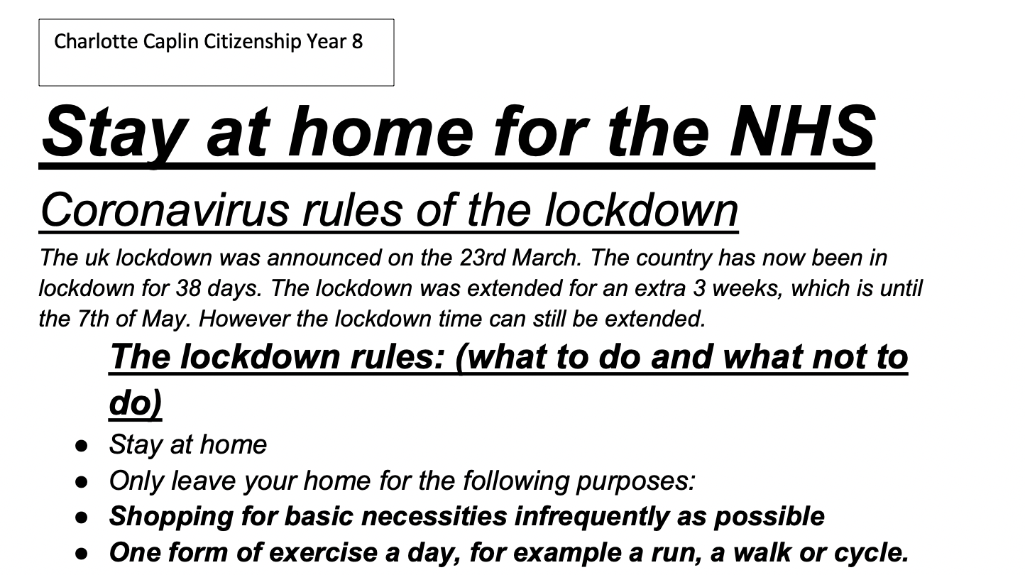 05/05/20 - Stay at Home for the NHS