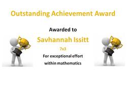 25/04/20 - Savhannah Issitt outstanding work in Maths
