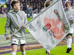England v Wales 6 Nations Rugby Flagbearer