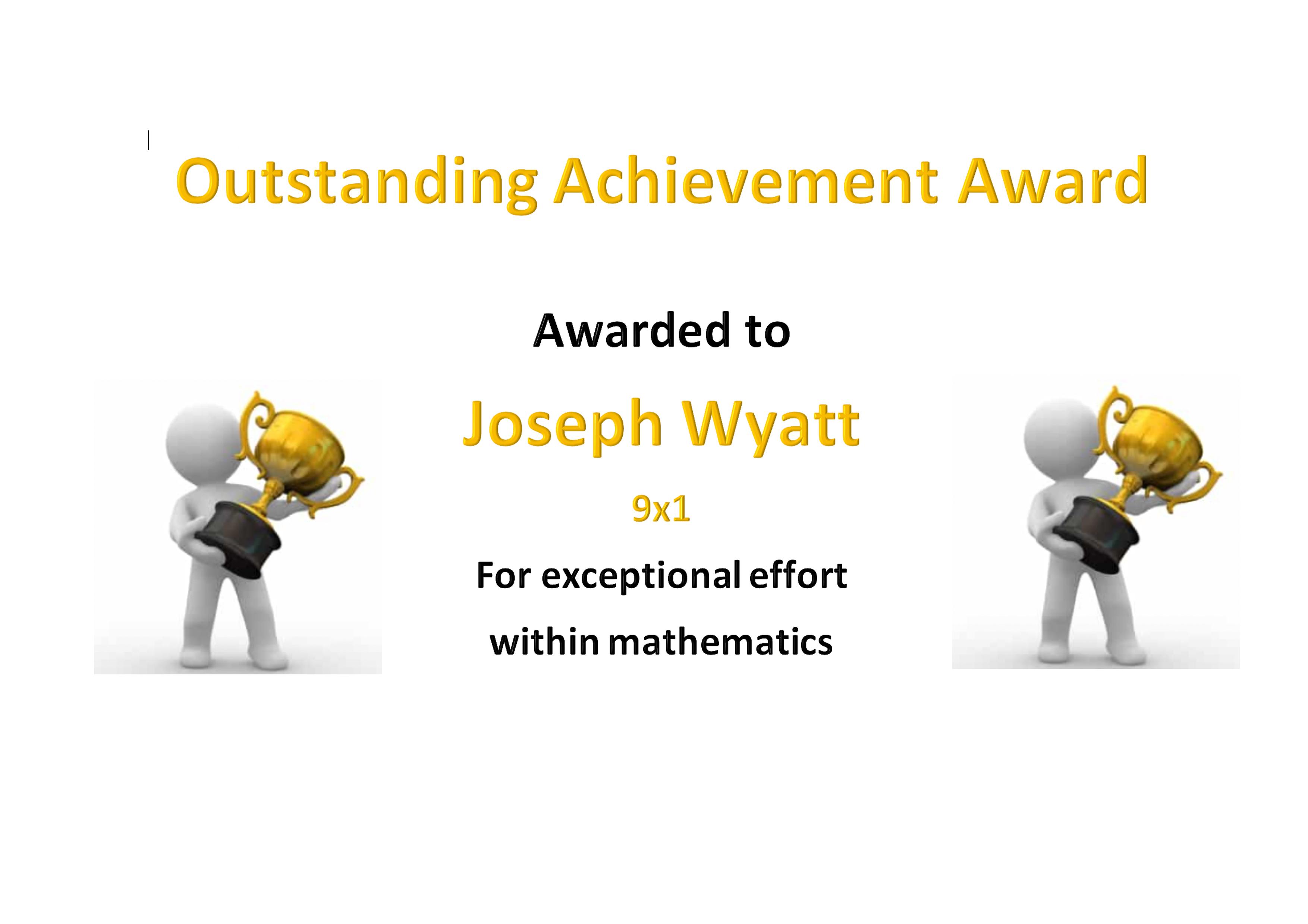 Jordan Wyatt Outstanding Maths
