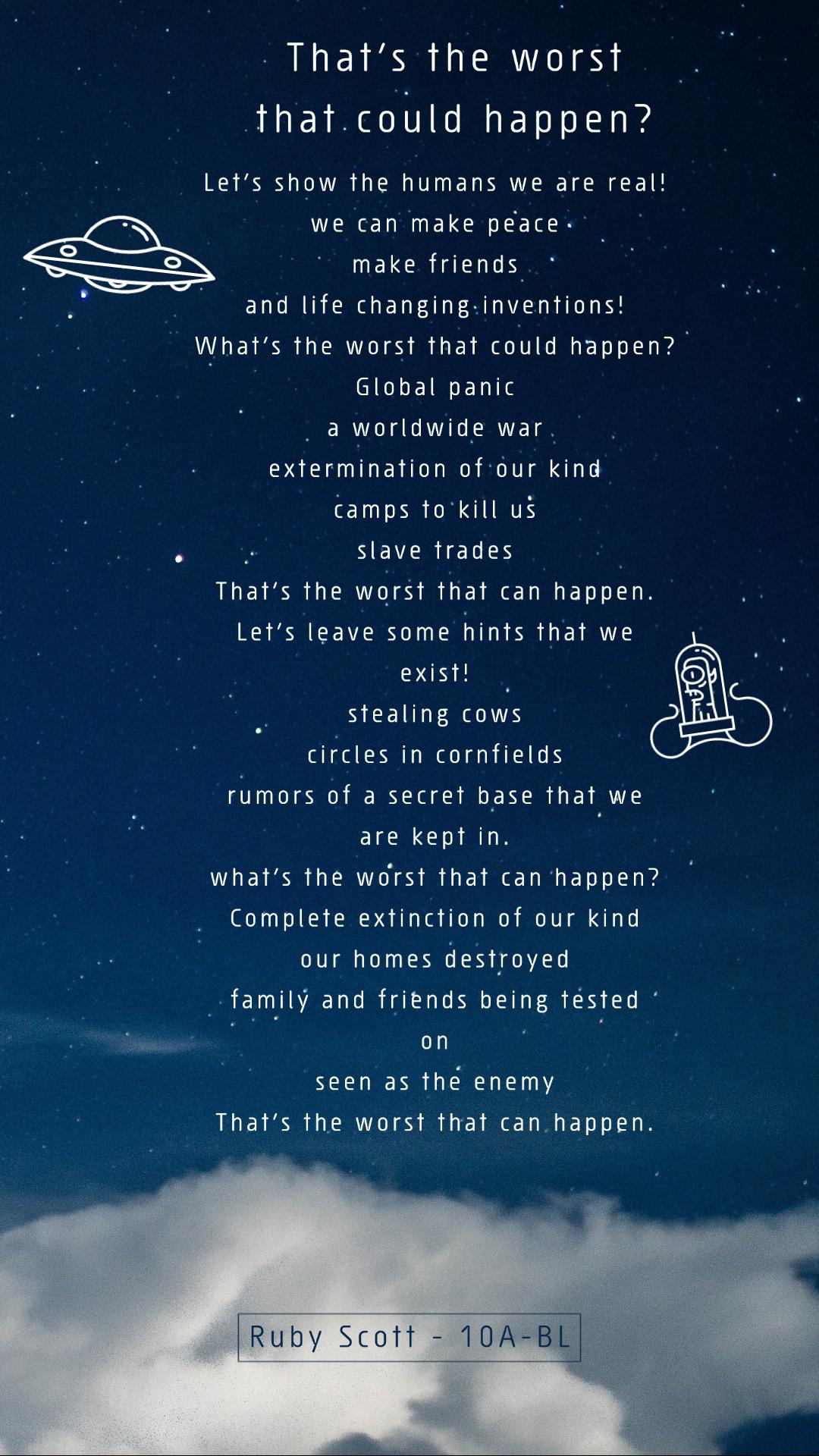 03/06/20 - English Poem Alien