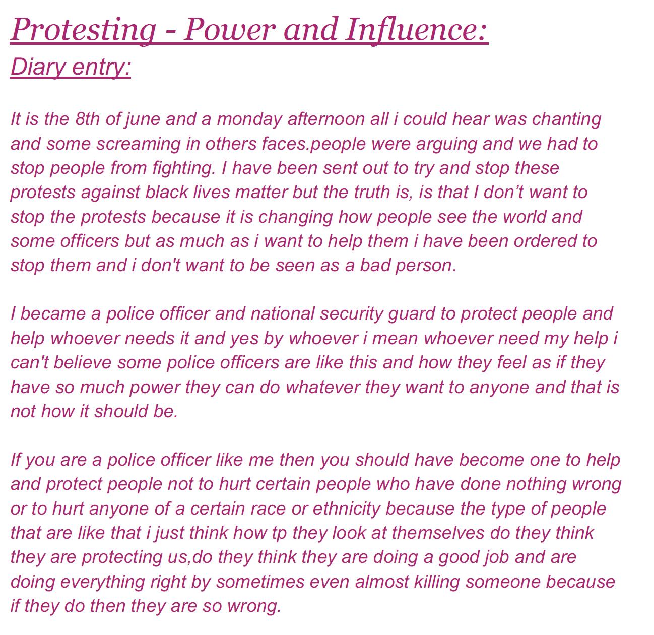 18/06/20 - Power & Influence
