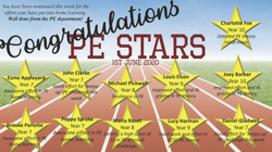 10/06/20 - Home Learning PE Stars