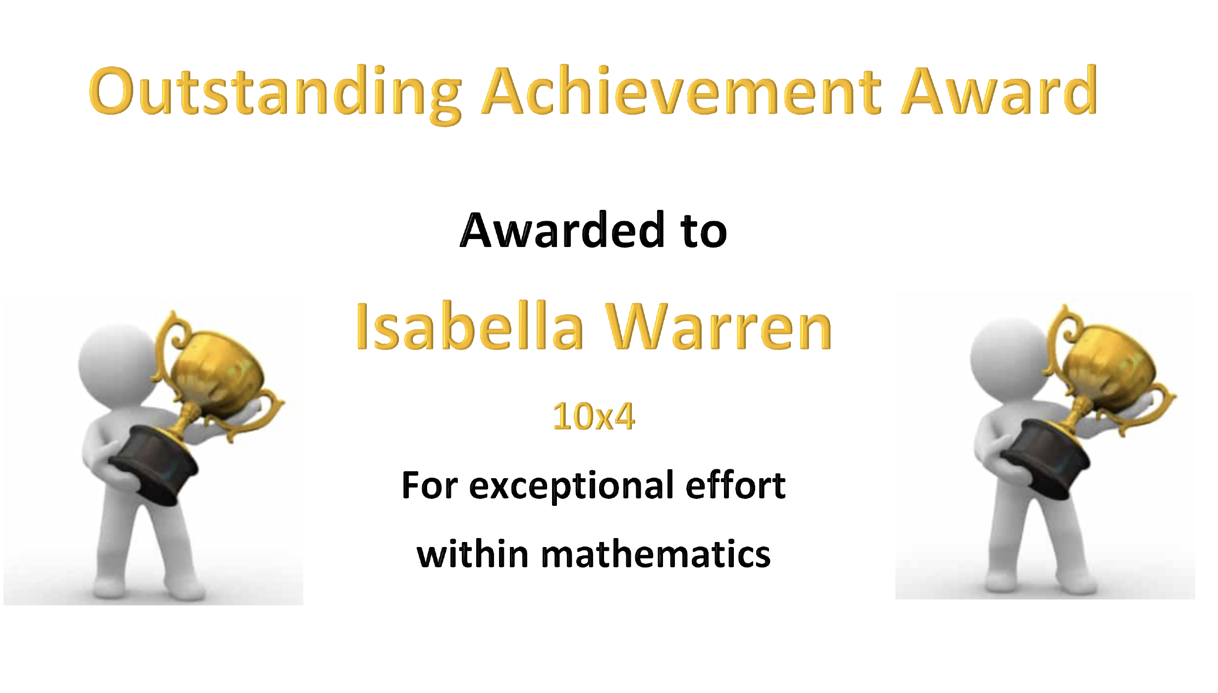 27/04/20 - Outstanding Work by Isabella Warren in Maths