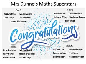 Maths Super Stars