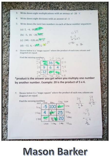 12/05/20 - Maths Algebra