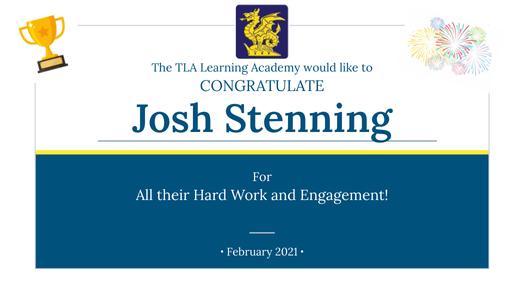 Josh Stennings Engagement Certificate