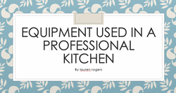 28/04/20 - Equipment in a Professional Kitchen