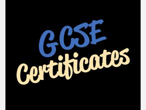 GCSE Certificates