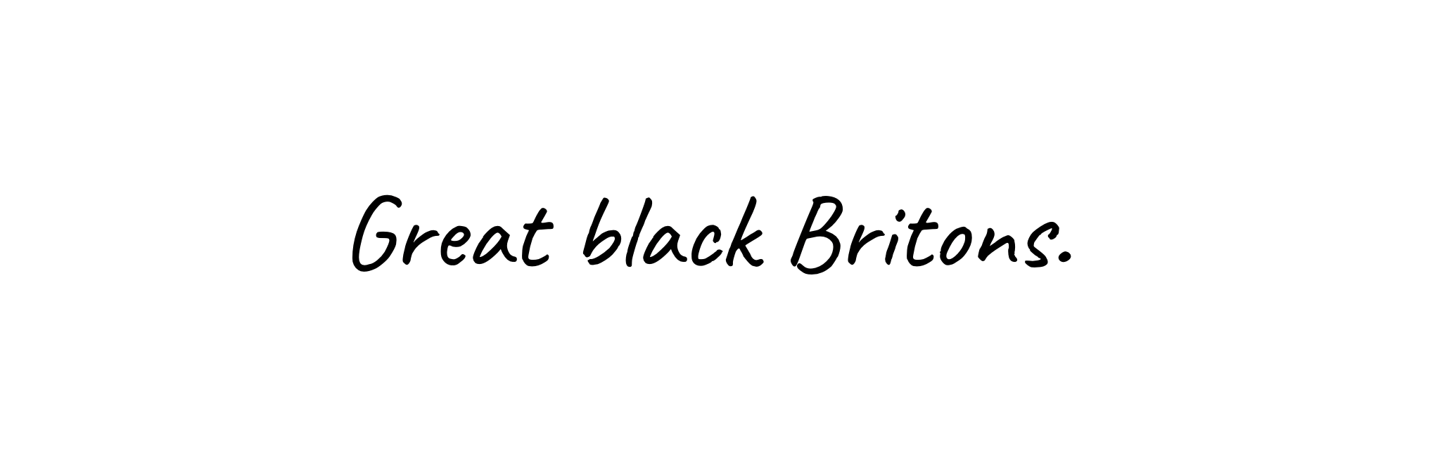 20/07/20 - Great Black Britons