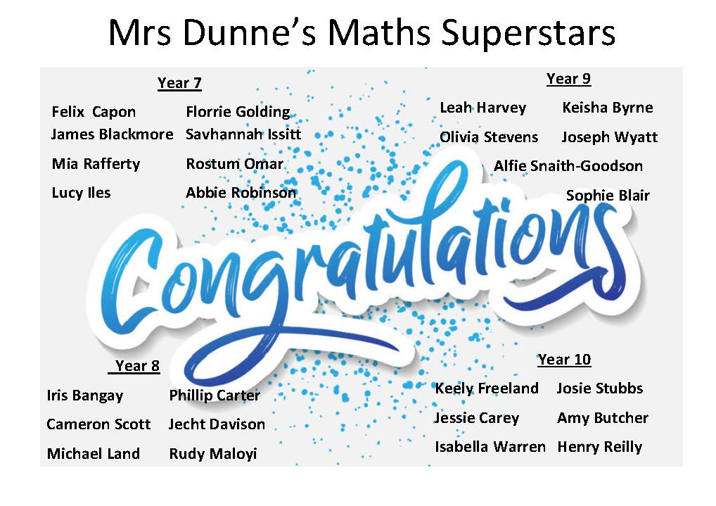 09/05/20 - Maths Superstars