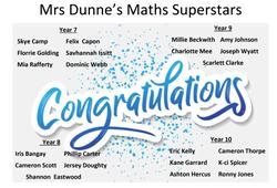 27/04/20 - Congratulations from Mrs Dunne