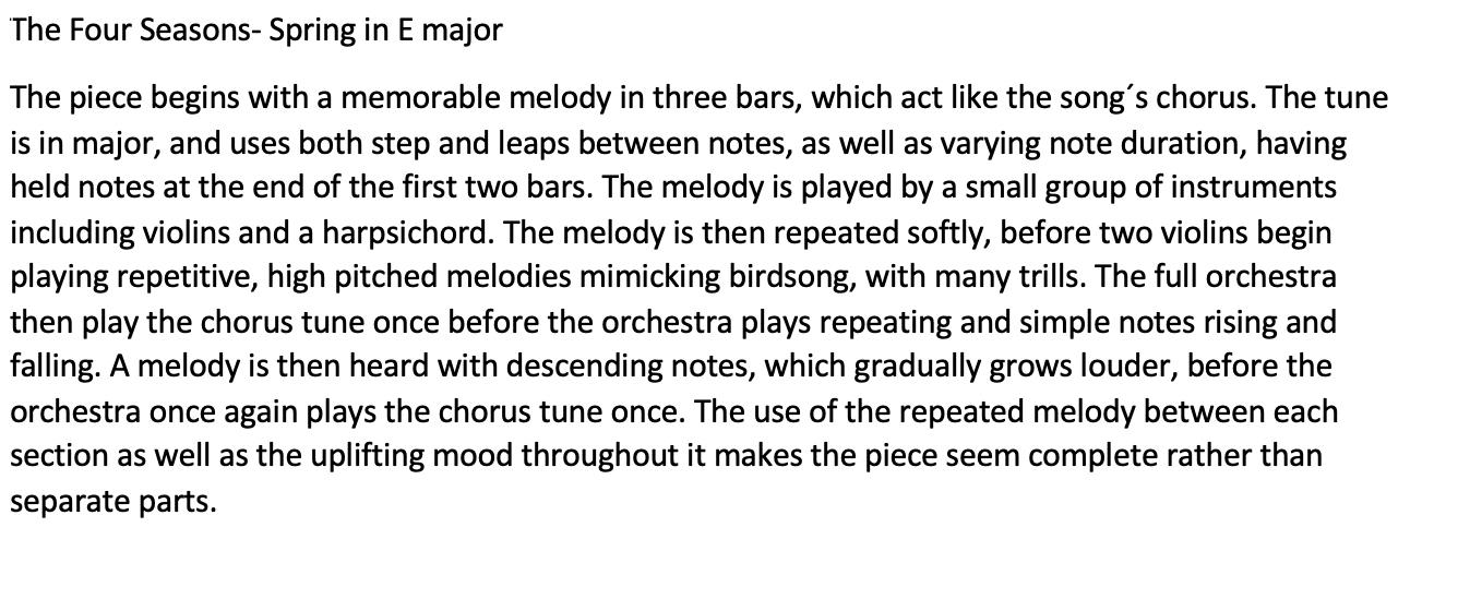 06/05/20 - Spring by Vivaldi