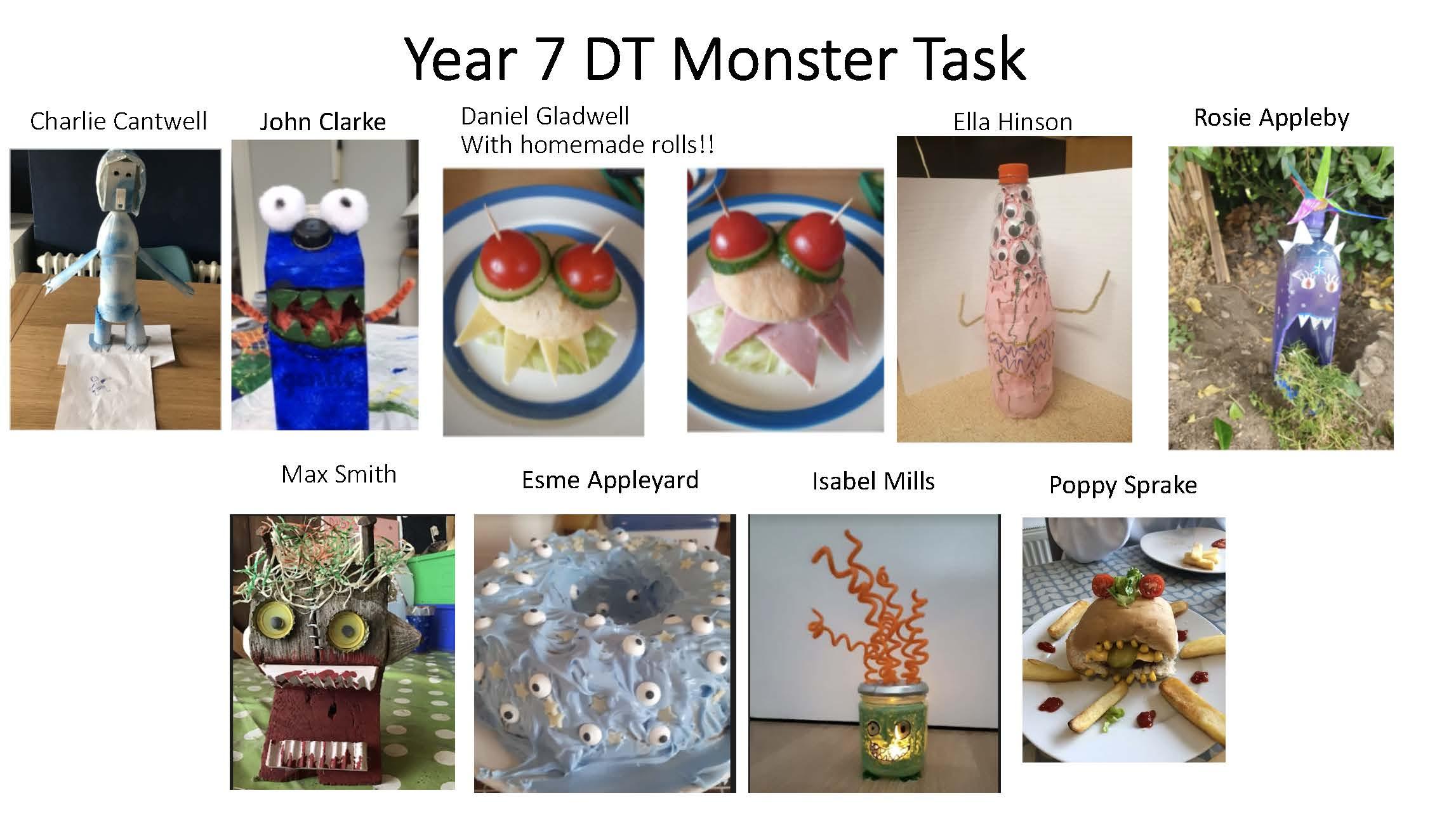 08/06/20 - Year 7 DT Monster Task
