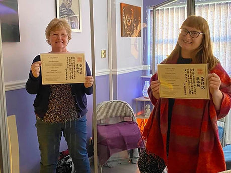 Catherine and Janet with RMP Certificate
