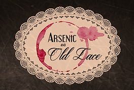 doily with wine stain and arsenic and old lace