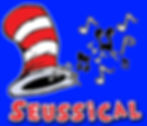 seussical logo hat with music notes