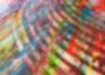 Abstrakt maleri med tandspartel teknik