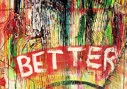 Hårbørste effekt i abstrakt maleri