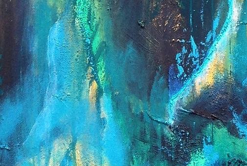 Grums teknik i abstrakt maleri
