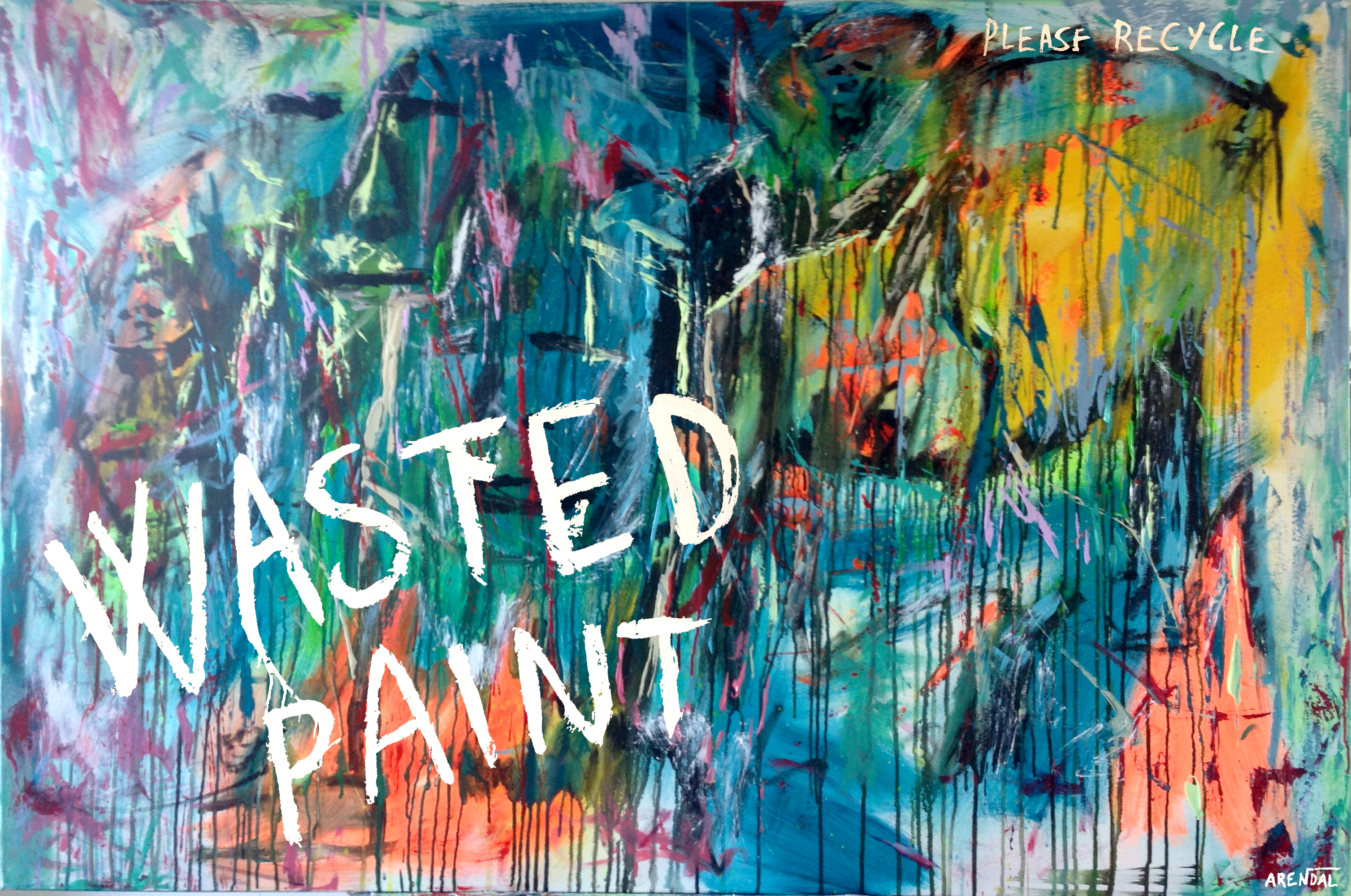 Wasted Paint on Canvas no3