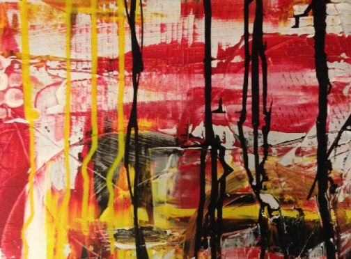 Abstrakt maleri effekt med flow malng
