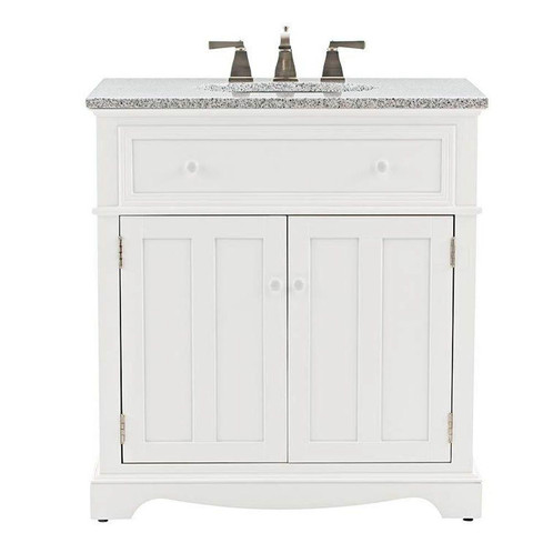 Fremont 32 X 22 White Vanity W Grey Granite Top