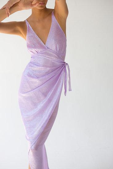 Atocha Metallic Chiffon Dress