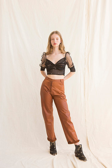 Dalva Leather Pant