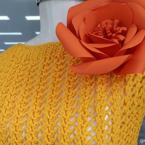 Mini Blusa Amarela Vibrante