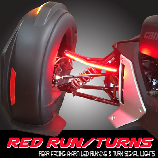 Ryker Red/Run/Turn STAY-ON Upper A-Arm Rear LEDs
