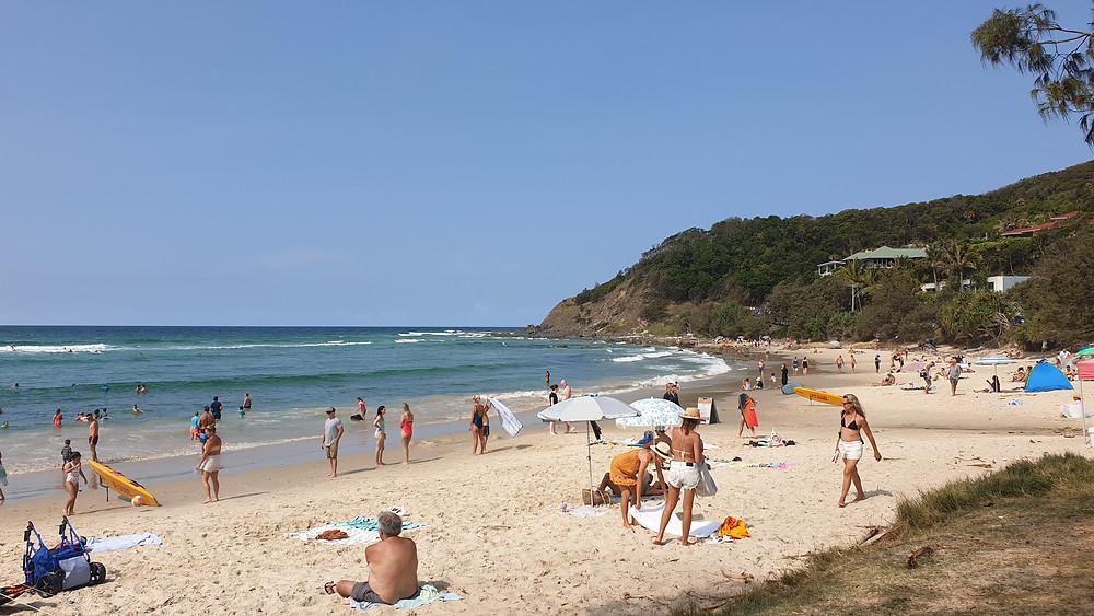 Great little beach called Wategos Beach near Cape Byron Lighthouse