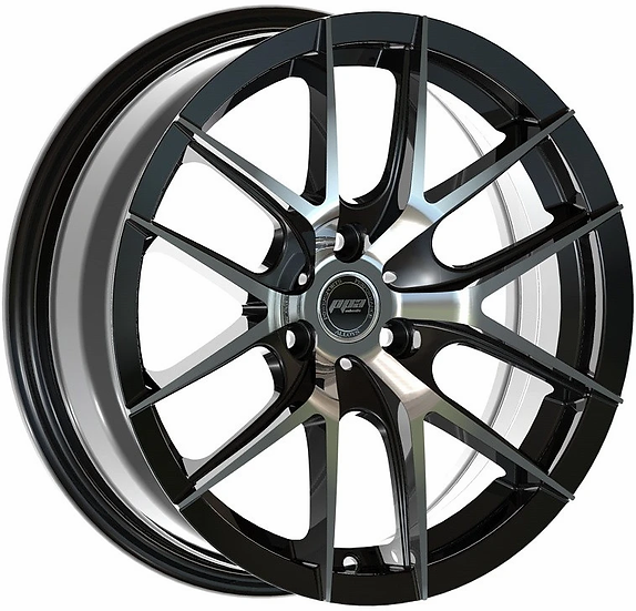 """PPA Wheels ORB 15"""" Black and Machined [sold as set]"""