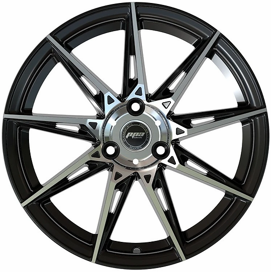 """PPA Wheels WIDOW 15"""" Black and Machined [sold as set]"""