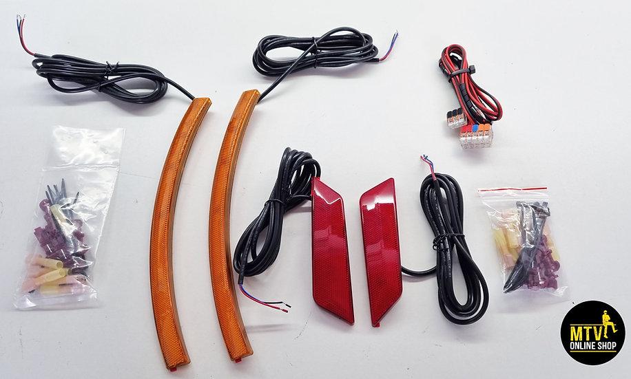 SPYDER F3, RS, ST Front Fender LED Reflectors 2.0.